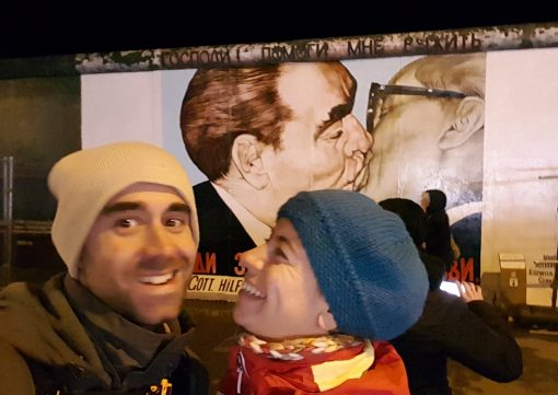 El beso en East Side Gallery